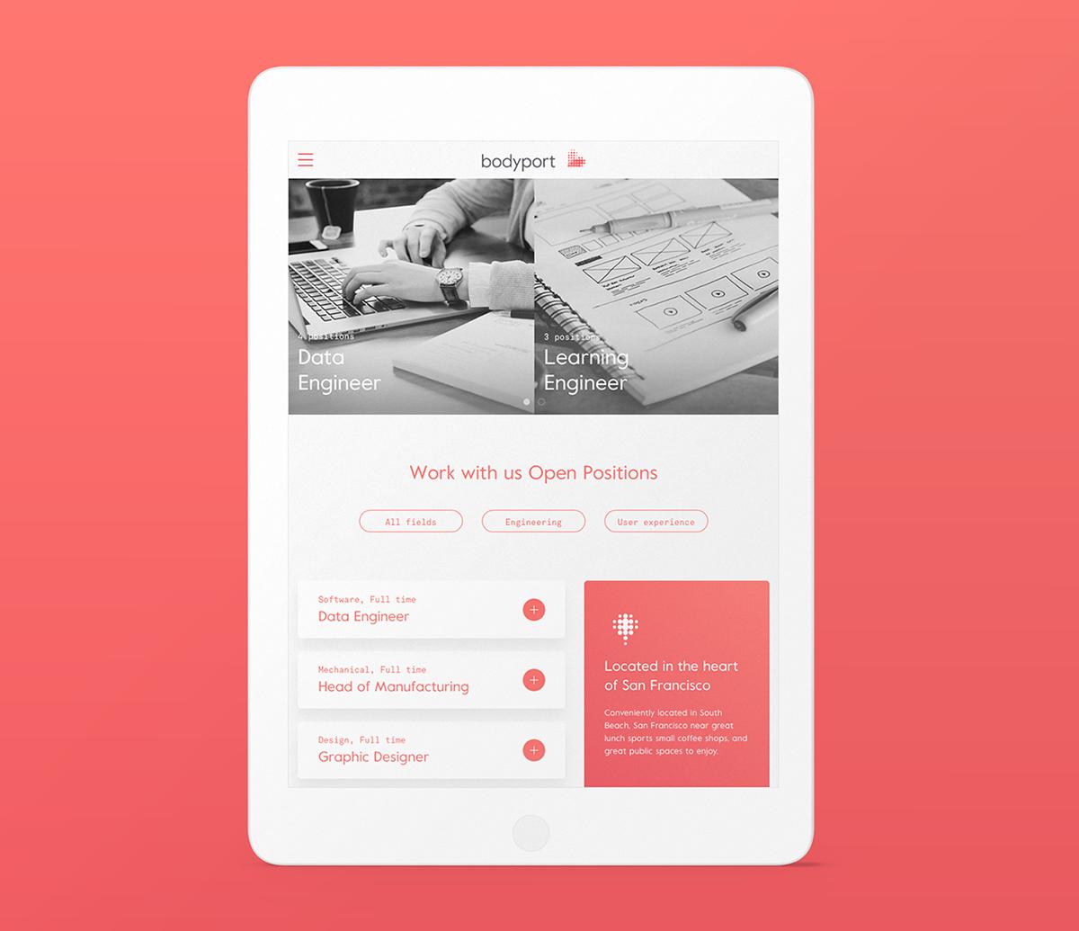 bodyport心脏健康测试仪品牌设计 网站设计展示
