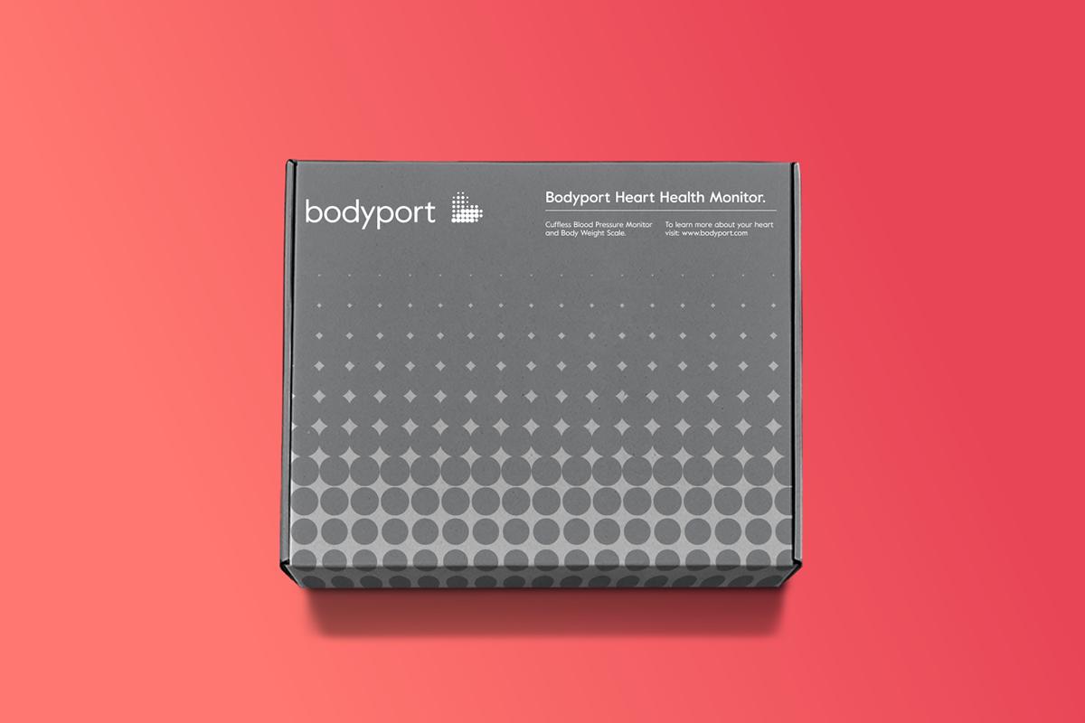 bodyport心脏健康测试仪品牌设计 包装盒设计