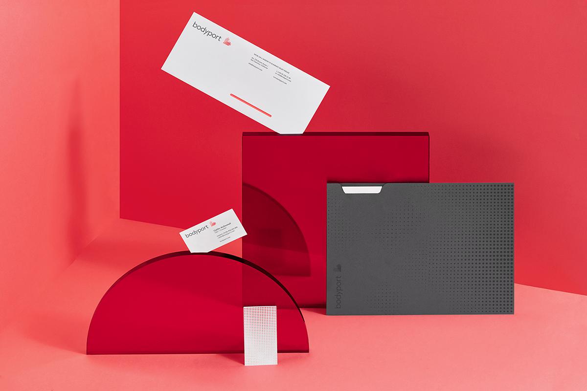 bodyport心脏健康测试仪品牌设计 名片展示