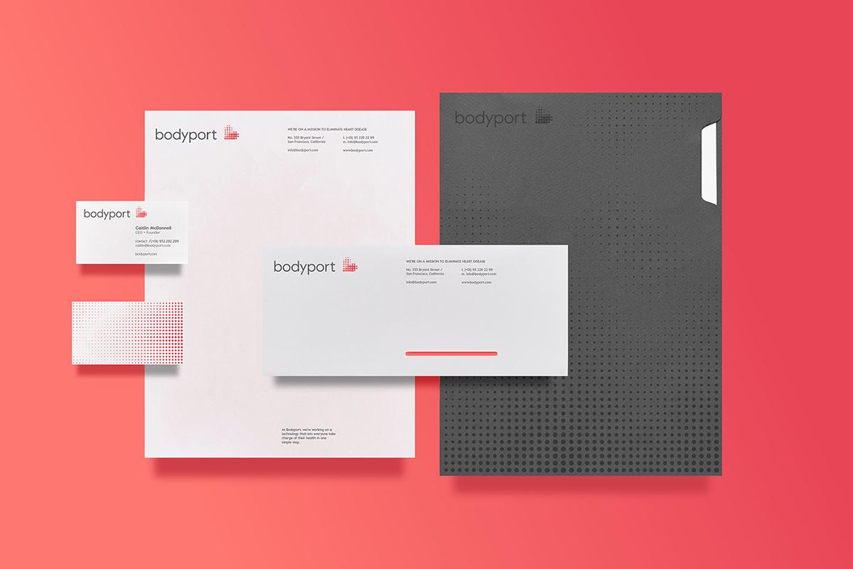 bodyport心脏健康测试仪品牌设计 文件袋设计