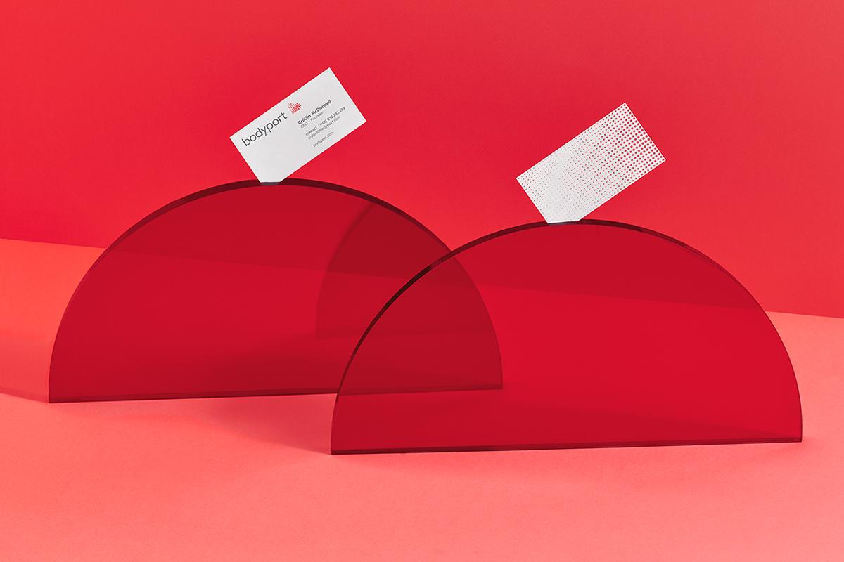 bodyport心脏健康测试仪品牌设计 名片设计展示