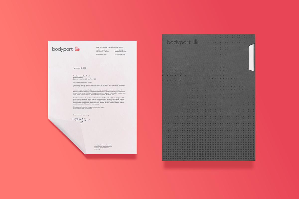 bodyport心脏健康测试仪品牌设计 单页设计