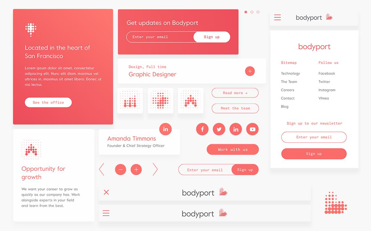 bodyport心脏健康测试仪品牌设计 网站设计