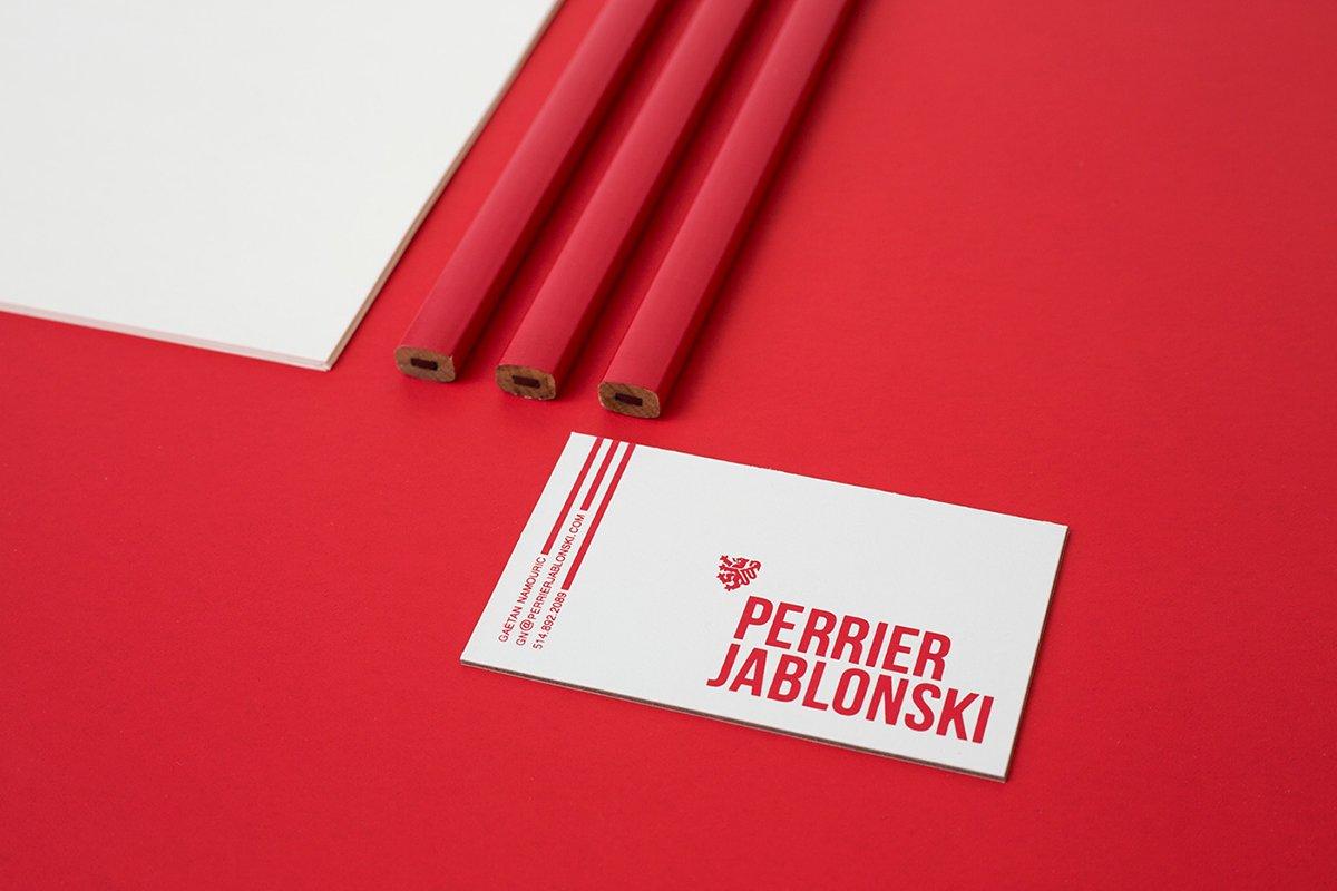 深圳品牌设计 深圳品牌策划 Perrier Jablonski网络通信品牌形象设计 名片设计