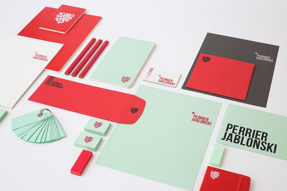 深圳品牌设计 深圳品牌策划 Perrier Jablonski网络通信品牌形象设计 VI展示