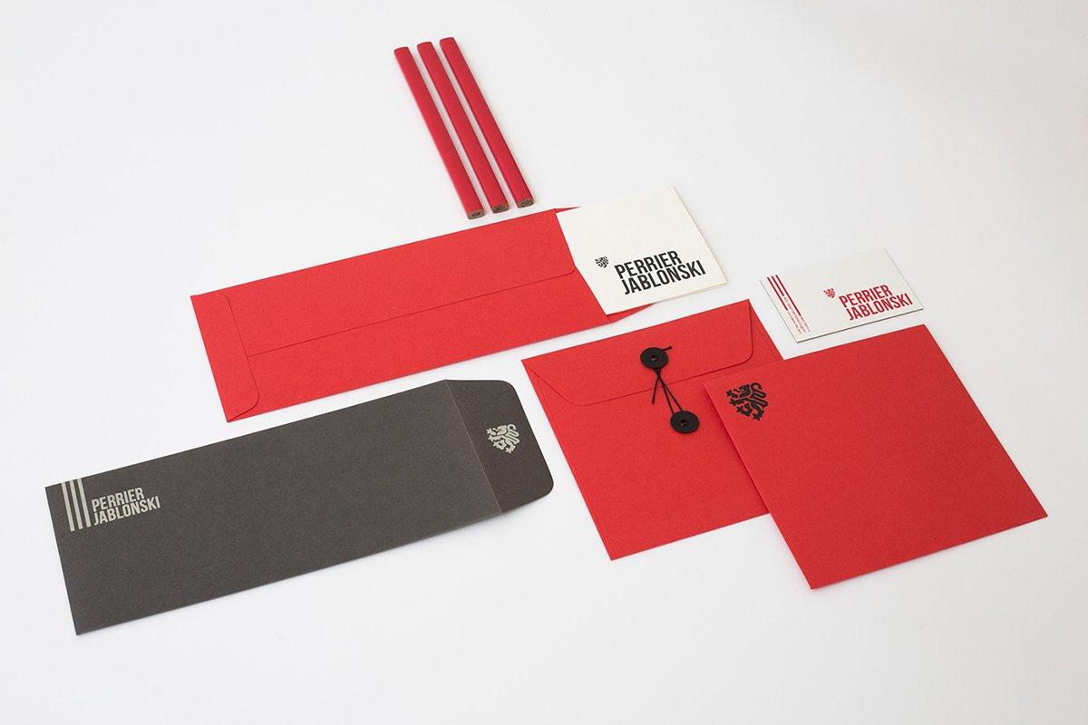 深圳品牌设计 深圳品牌策划 Perrier Jablonski网络通信品牌形象设计 信封设计