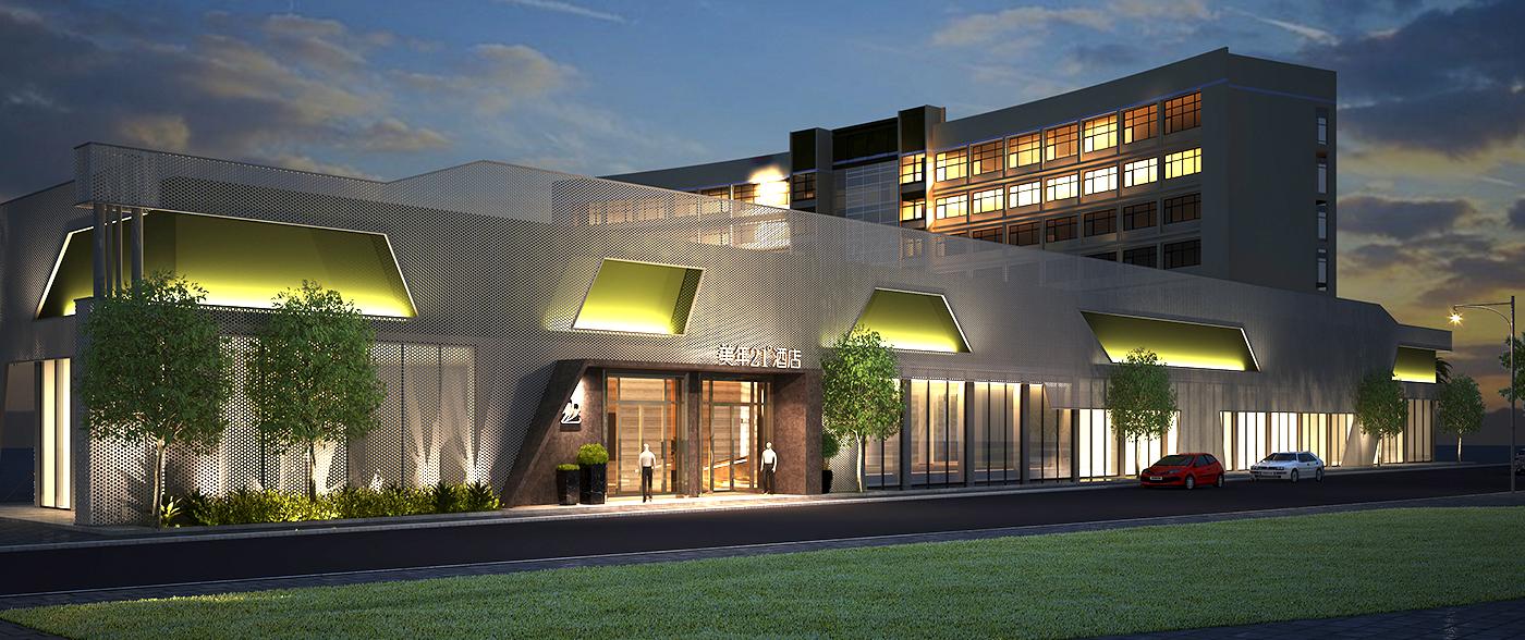 高端人文酒店空间设计-左右格局